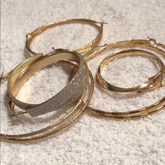 d77a6b7f8 jcpenney Jewelry | Slim Gold Hoop Earrings | Poshmark